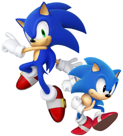 Classic and Modern Sonic The Hedgehog