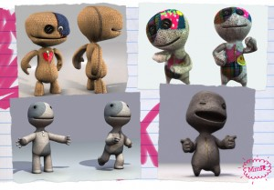 Some prototypes of Sackboy