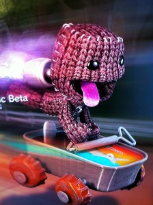 Sackboy Blasting off
