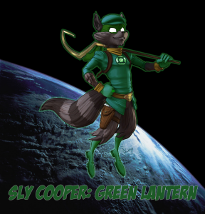 Sly Cooper Green Lantern Flying