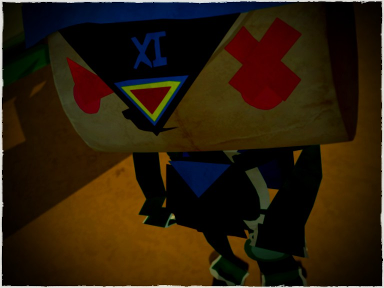 This is my messenger in Tearaway, who I have named Exo-Iota.